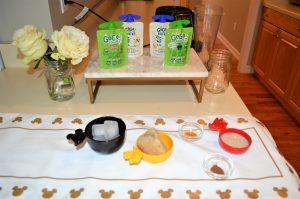 Everything you need to create this Apple Cinnamon Smoothie Recipe Celebrating Snow White!