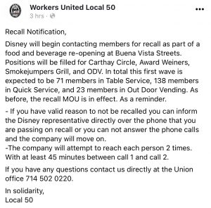 Image Source: Workers United Local 50 Facebook