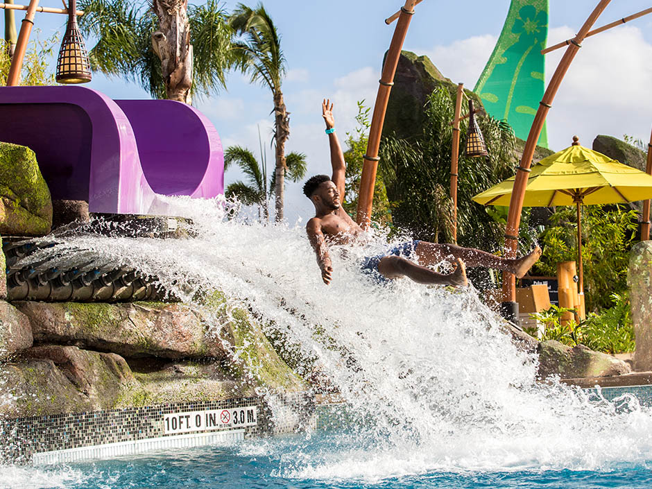 Ohno Drop Slide at Universal's Volcano Bay