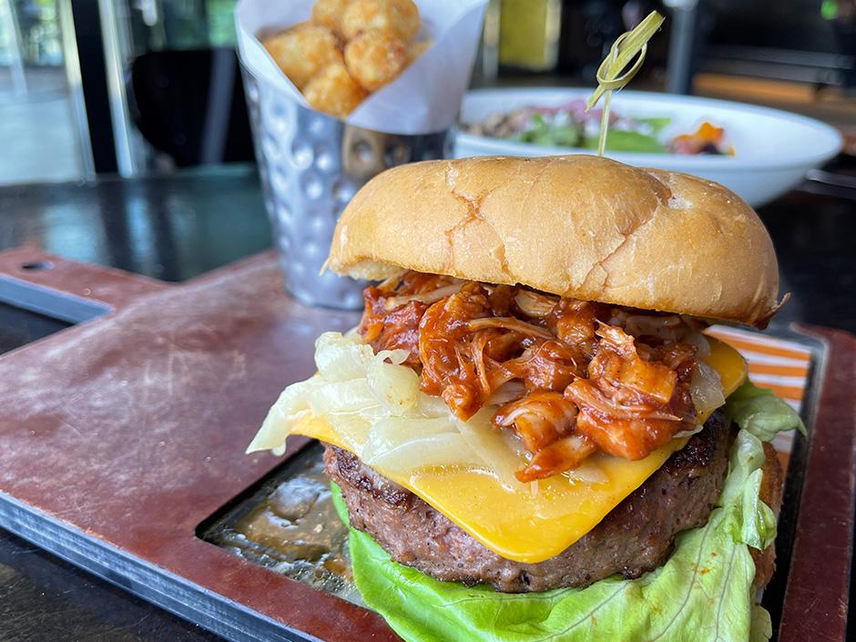 Beyond Smokehouse Burger at NBC Sports Grill & Brew